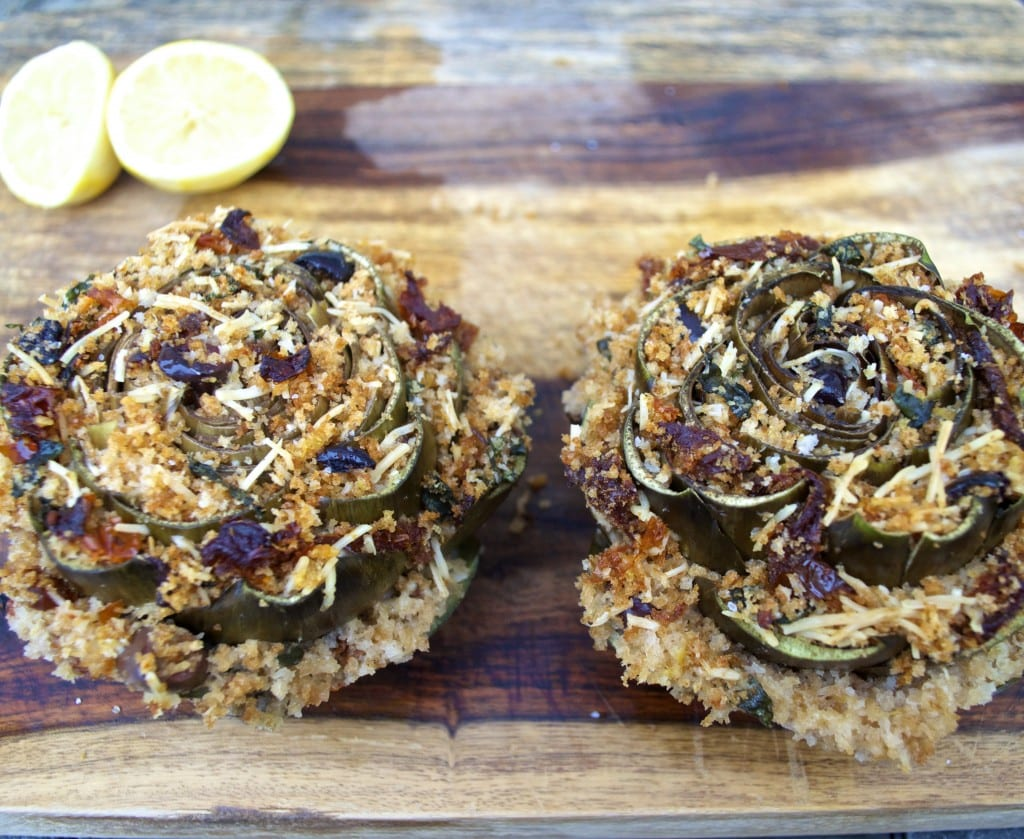 Mediterranean Stuffed Artichokes