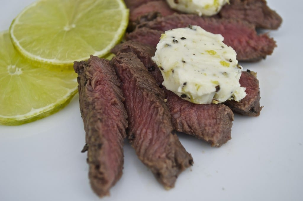 Grilled Venison with Lime Butter