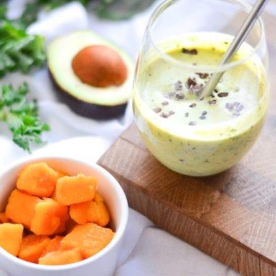 Creamy Avocado Kale Smoothie