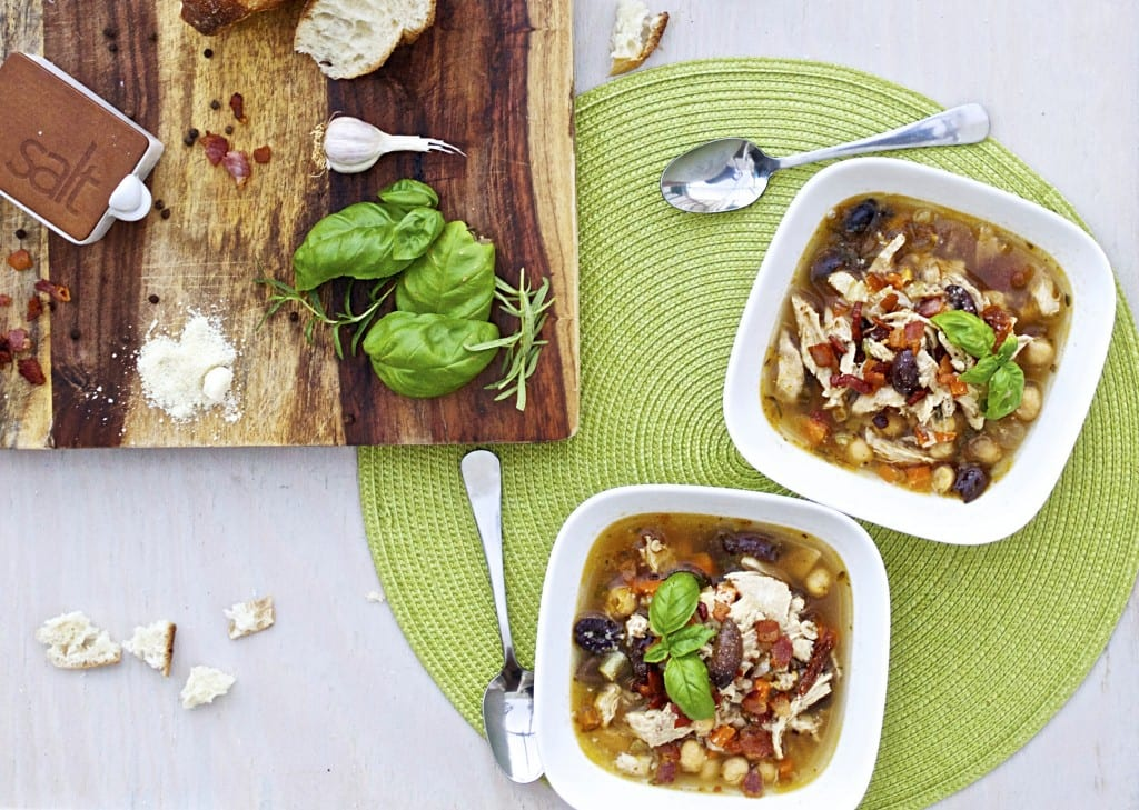 Tuscan Chicken and Barley Soup