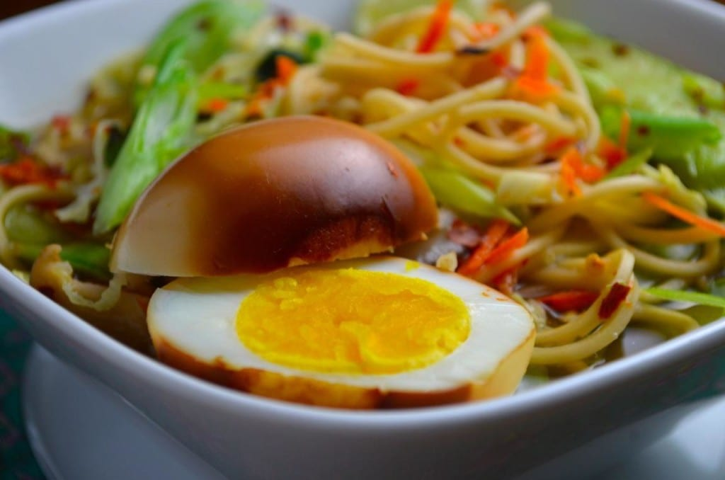 Basil Chicken Noodle Bowl