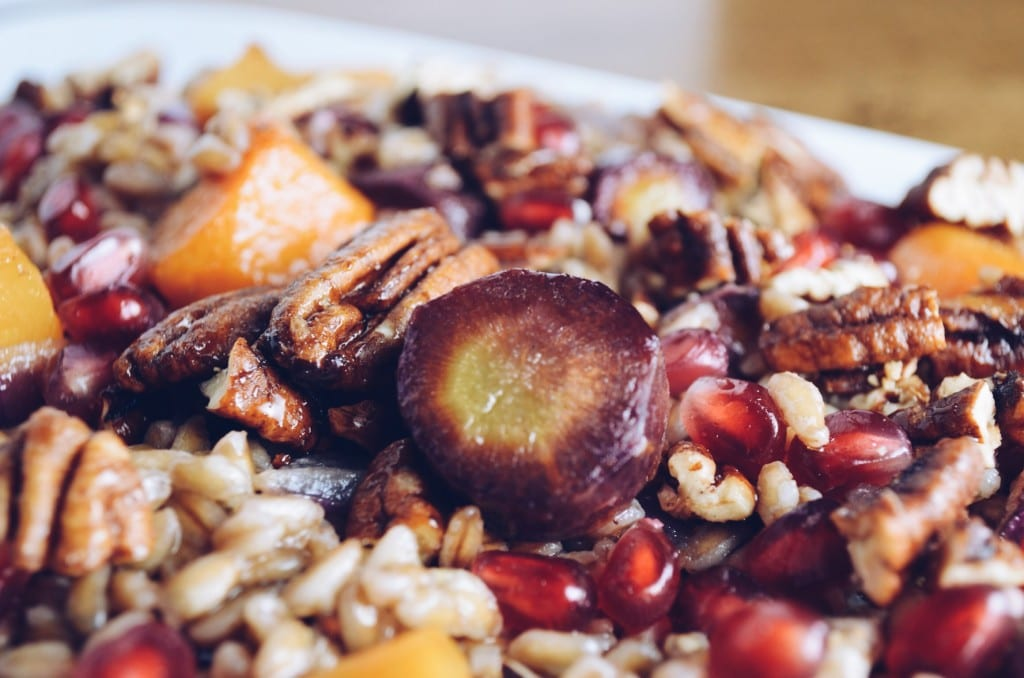 Farro Salad With Pomegranate Vinaigrette Roasted Winter Vegetables and ...