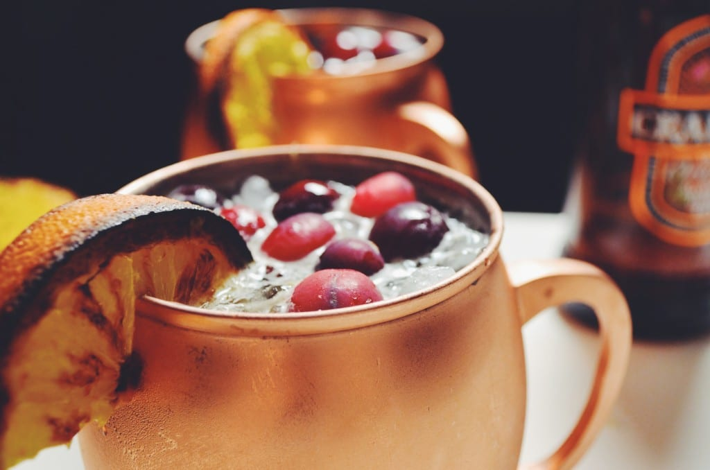 Cranberry and Broiled Orange Moscow Mule