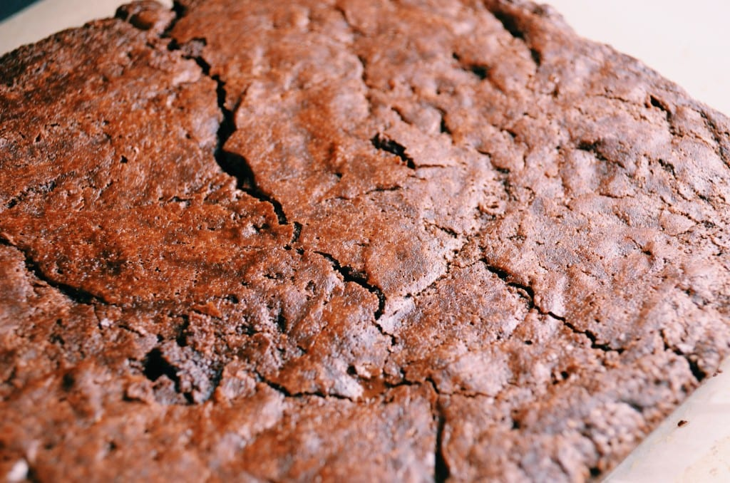 Fudgy Dark Chocolate Double Ginger Brownies
