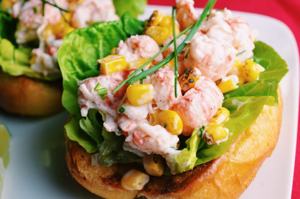 Lobster Rolls with Roasted Corn and Lime