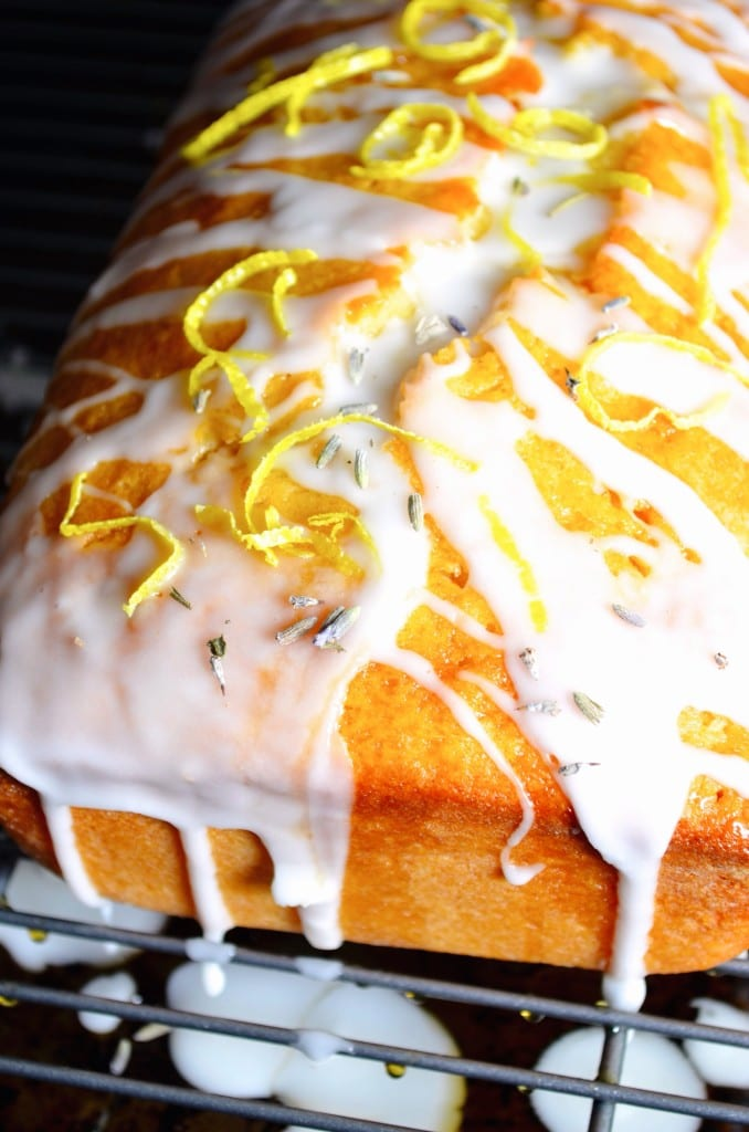 Lavender and Honey soaked Lemon Cake