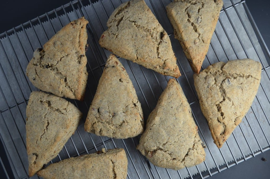 Buckwheat Scones with Molasses Glaze