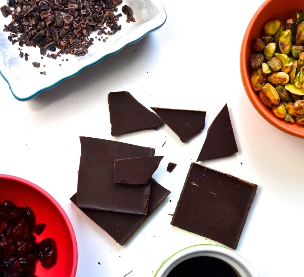 Dark Chocolate Pistachio Clusters