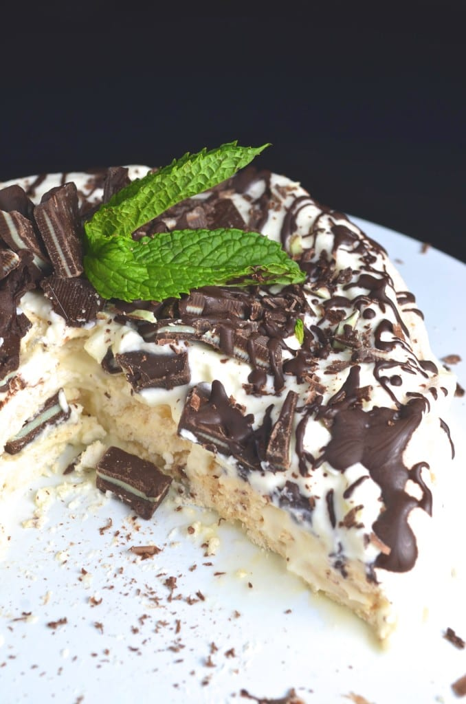 Mint Chocolate Pavlova