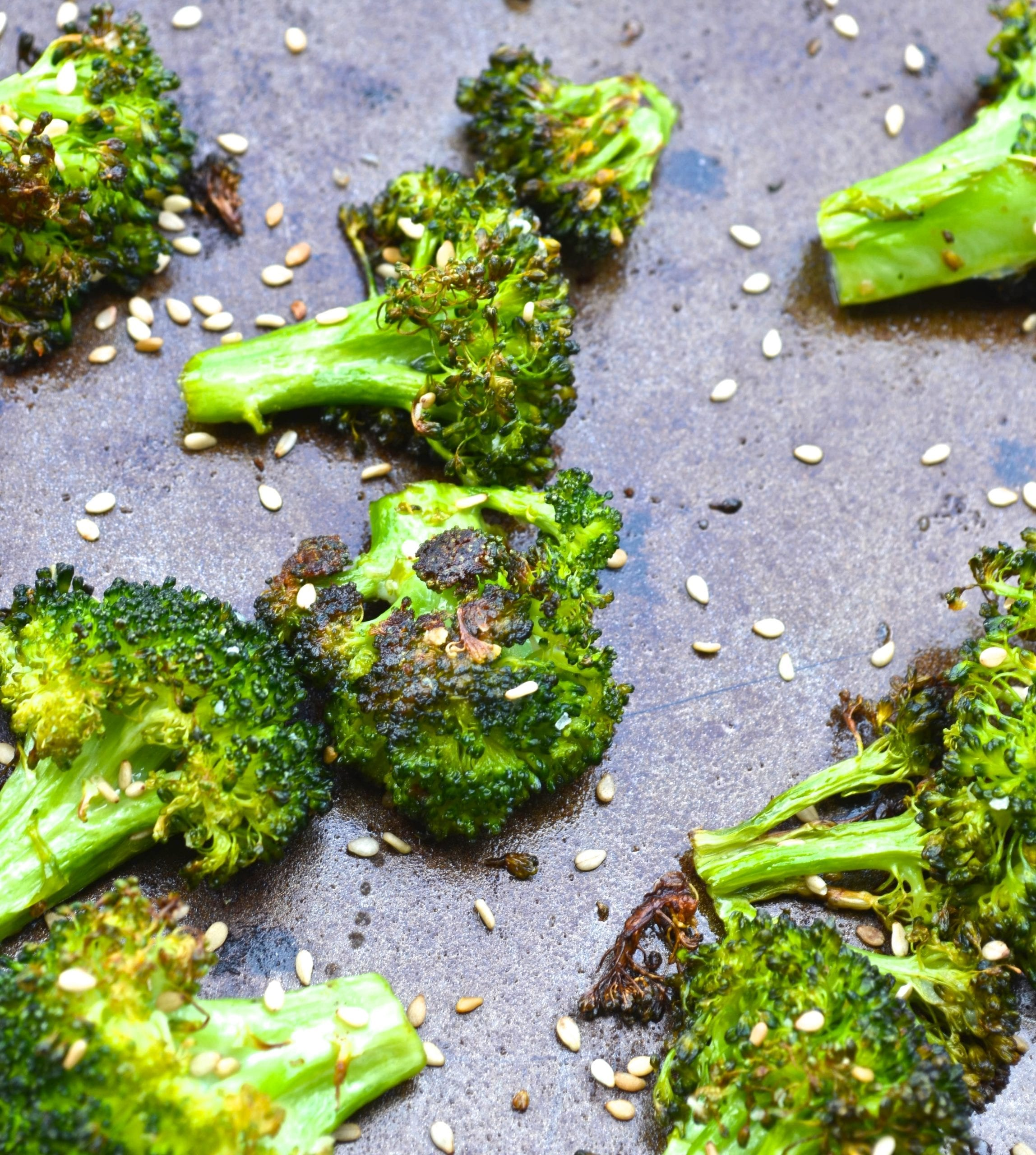 Ginger Sesame Roasted Broccoli