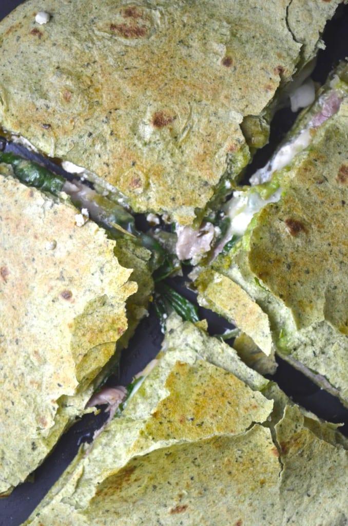 Prosciutto Green Goddess Quesadilla