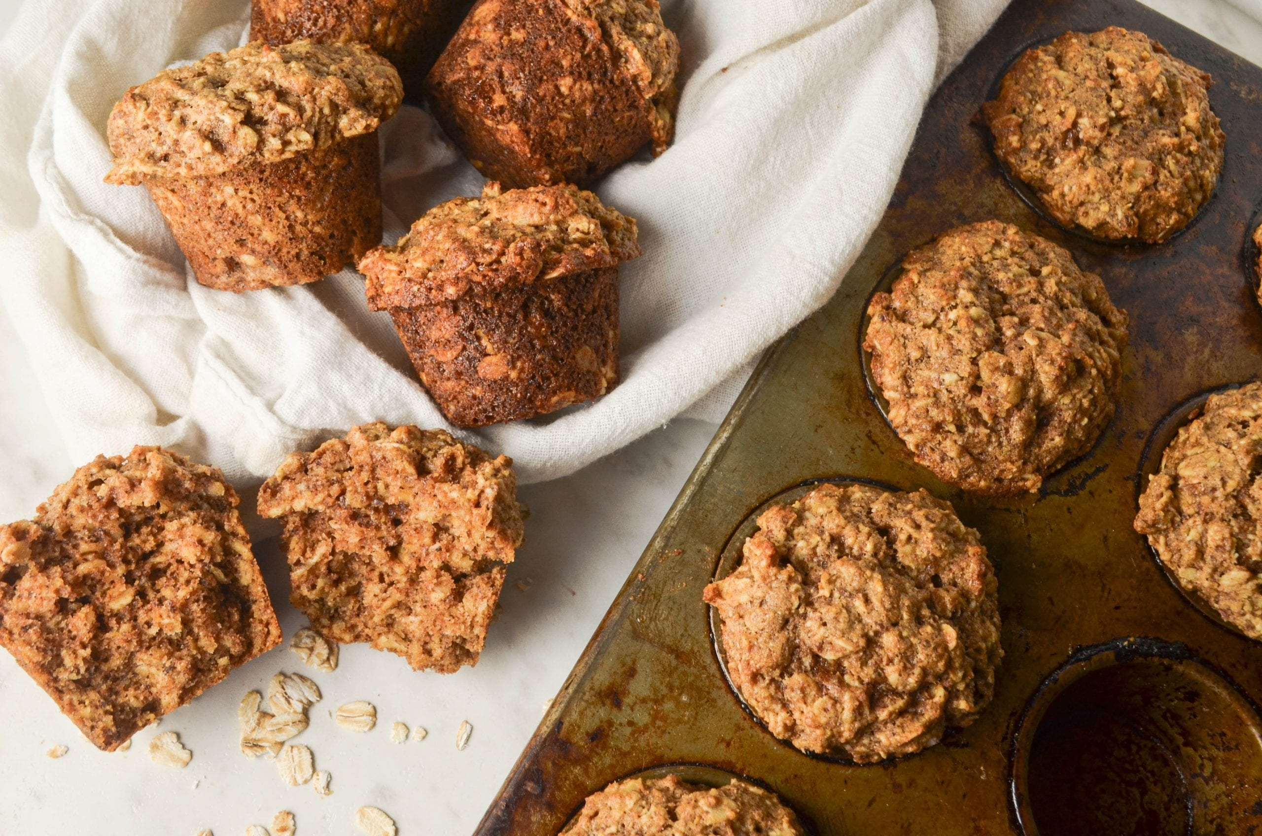 Whole Wheat Oat Muffins
