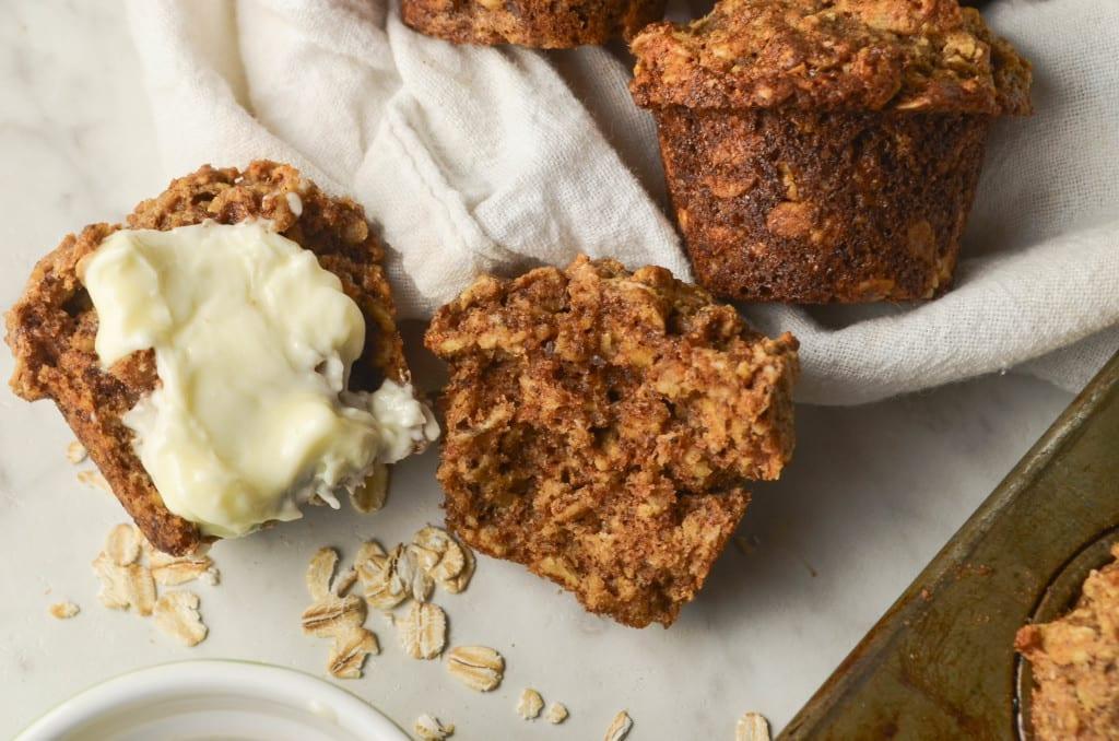 Whole Wheat Oat Muffins