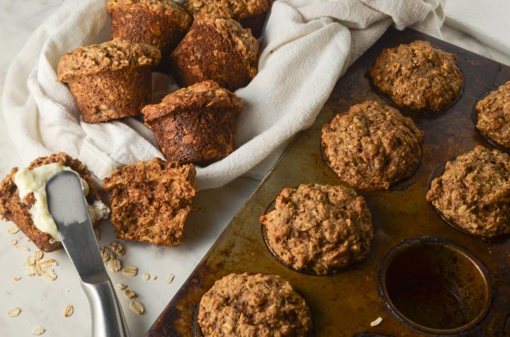 Whole Wheat Oat Muffins- My Modern Cookery