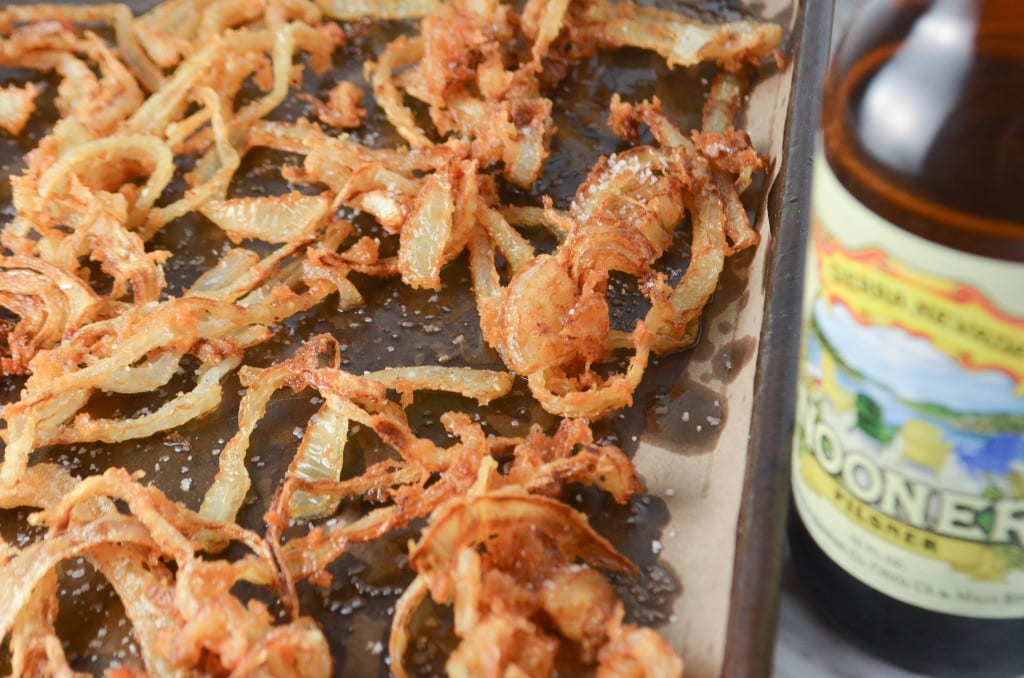 Green Bean Casserole with Crispy Beer Battered Onions