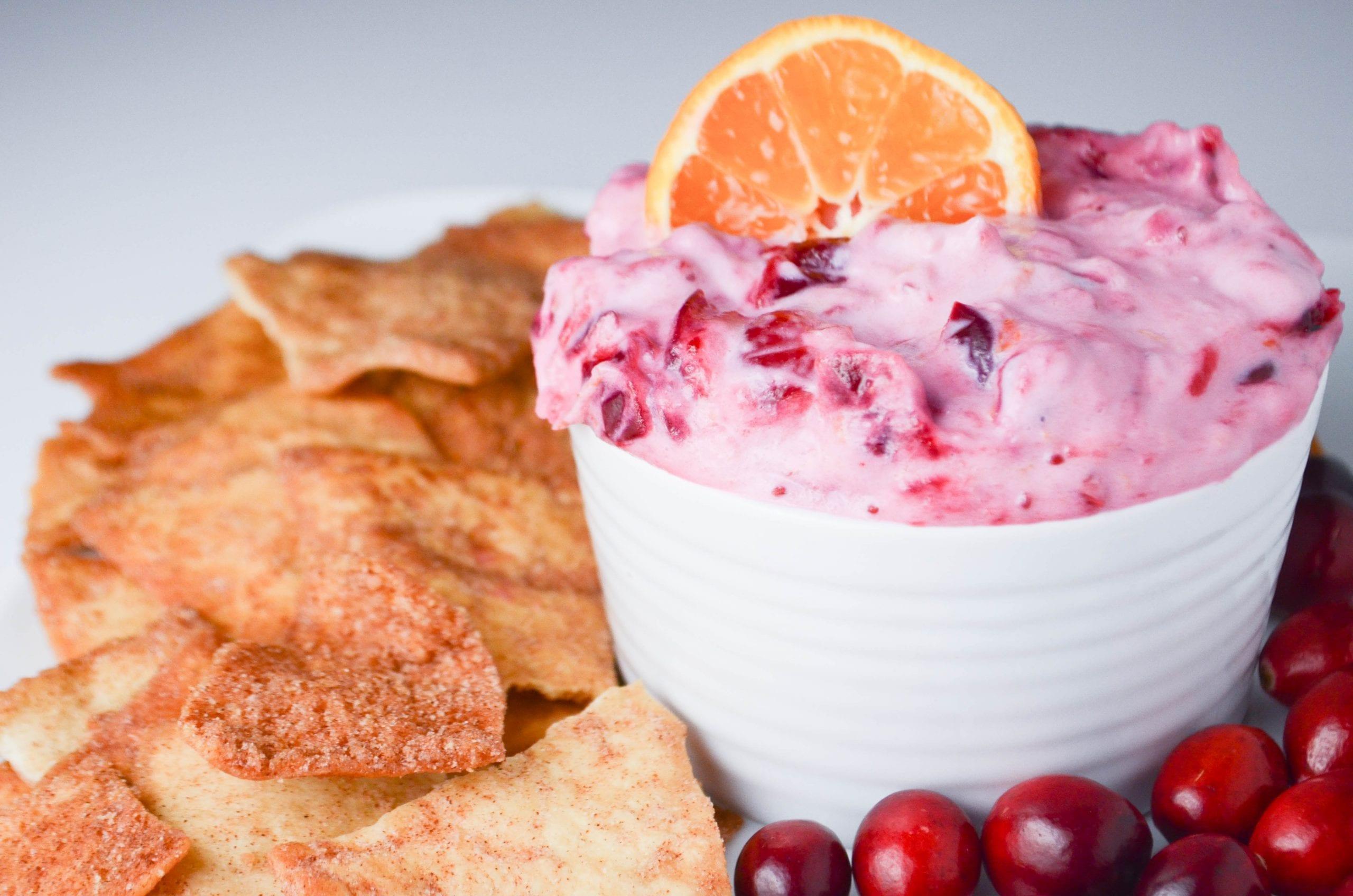 Cranberry Orange Greek Yogurt Dip