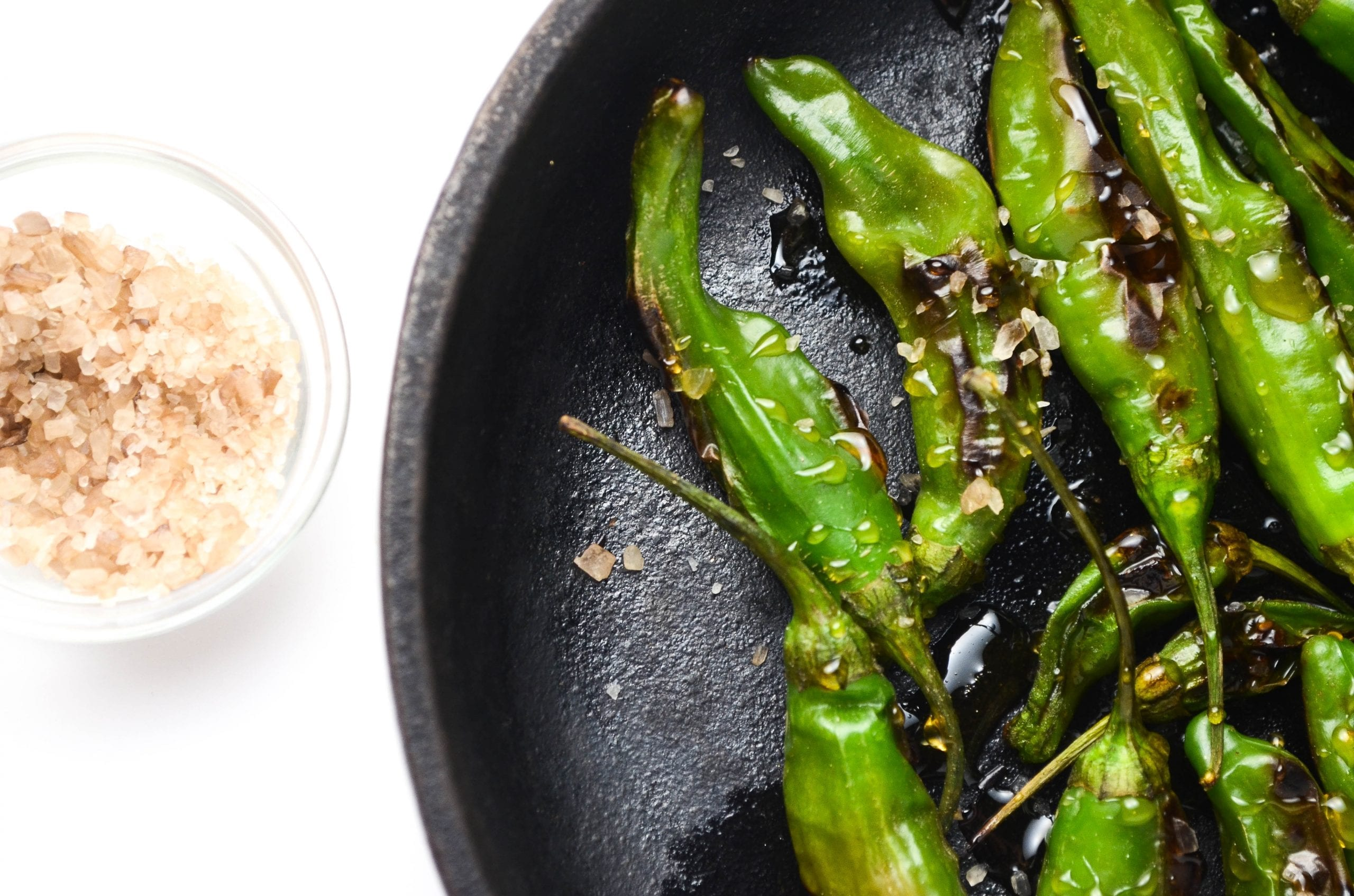 Blistered Shishito Peppers With Honey and Smoked Sea Salt