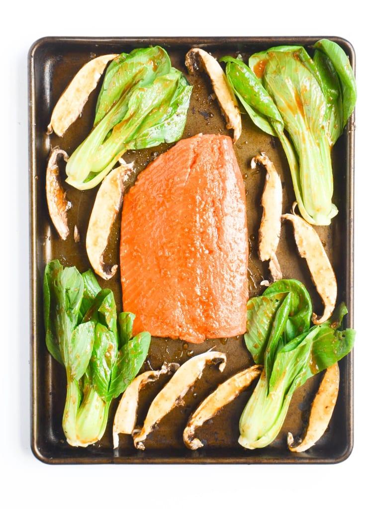 Asian Salmon Sheet Pan Dinner