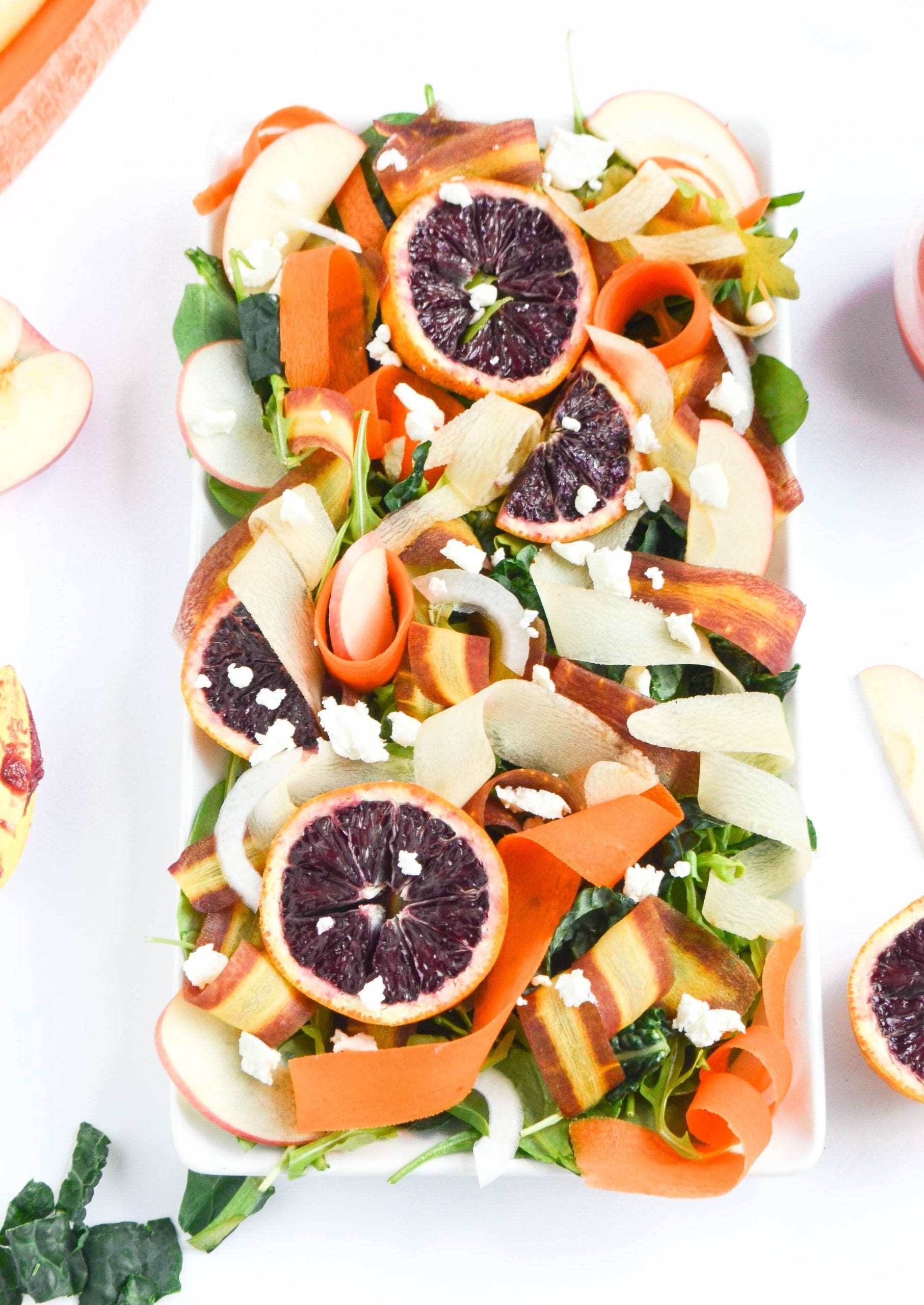 Shaved Carrot Salad With Blood Orange Vinaigrette