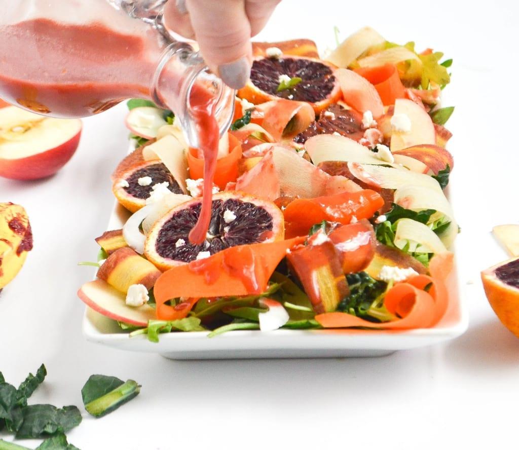 Shaved Carrot Salad With Blood Orange Vinaigrette
