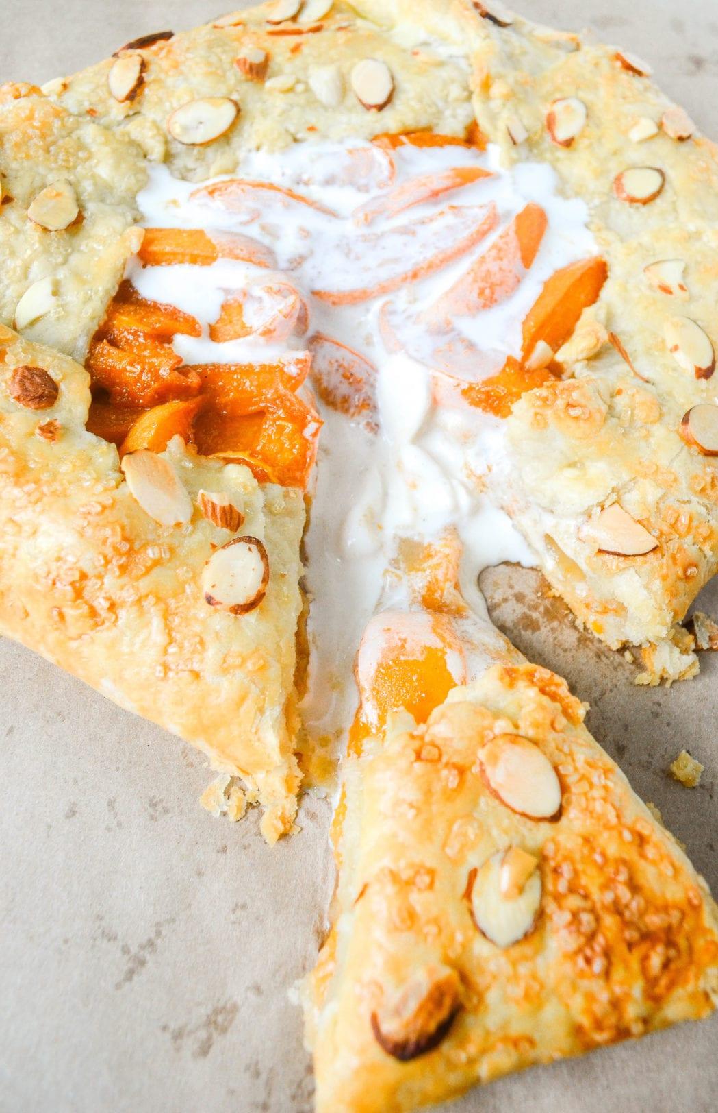 Cardamom-Spiced Apricot Almond Galette