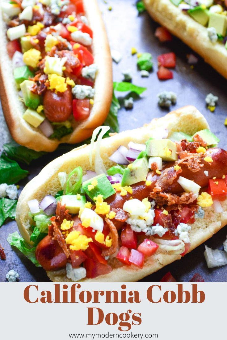 hot dogs with cheese, eggs, tomatoes and bacon