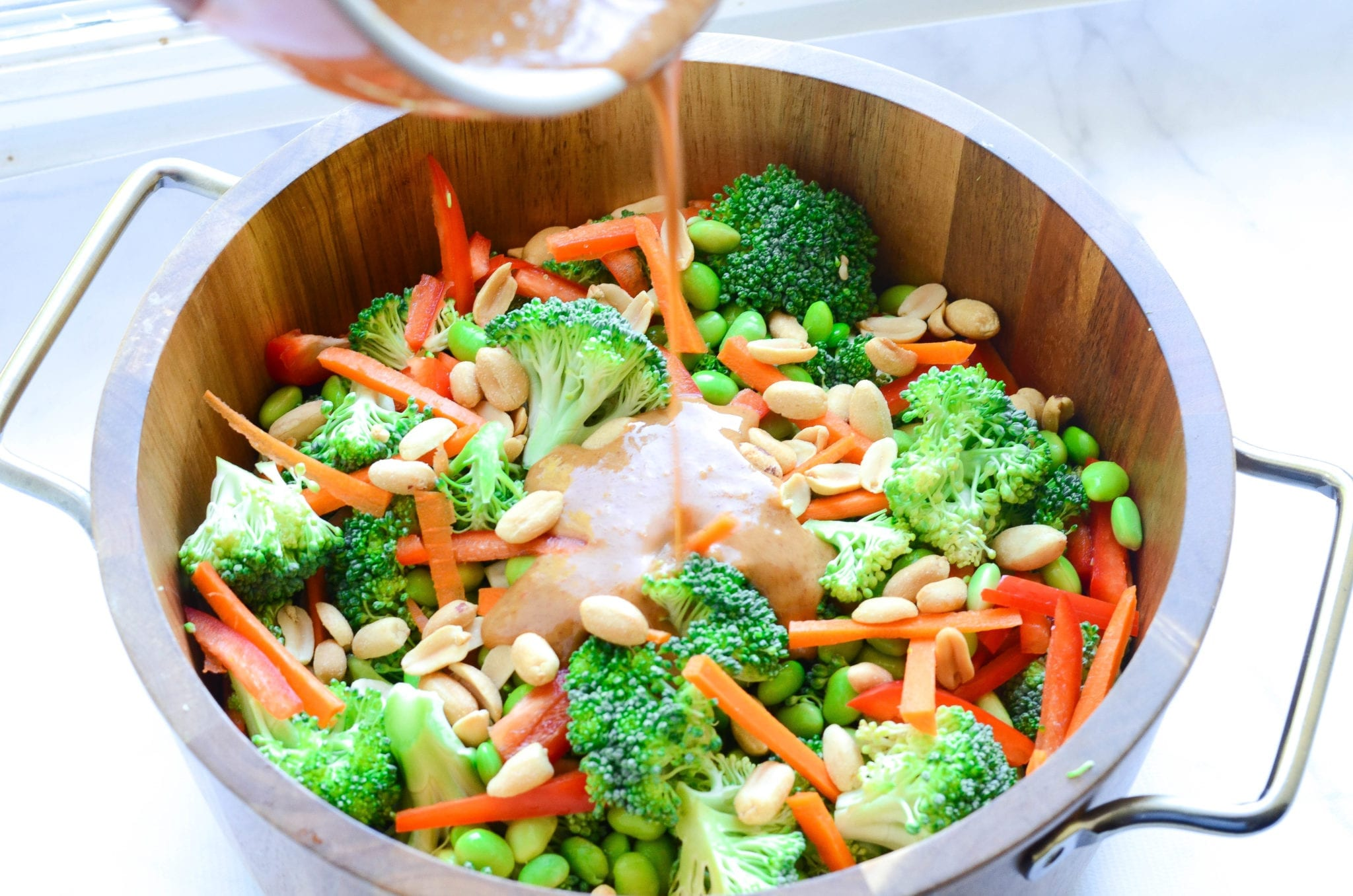 Thai Broccoli Salad With Spicy Peanut Dressing