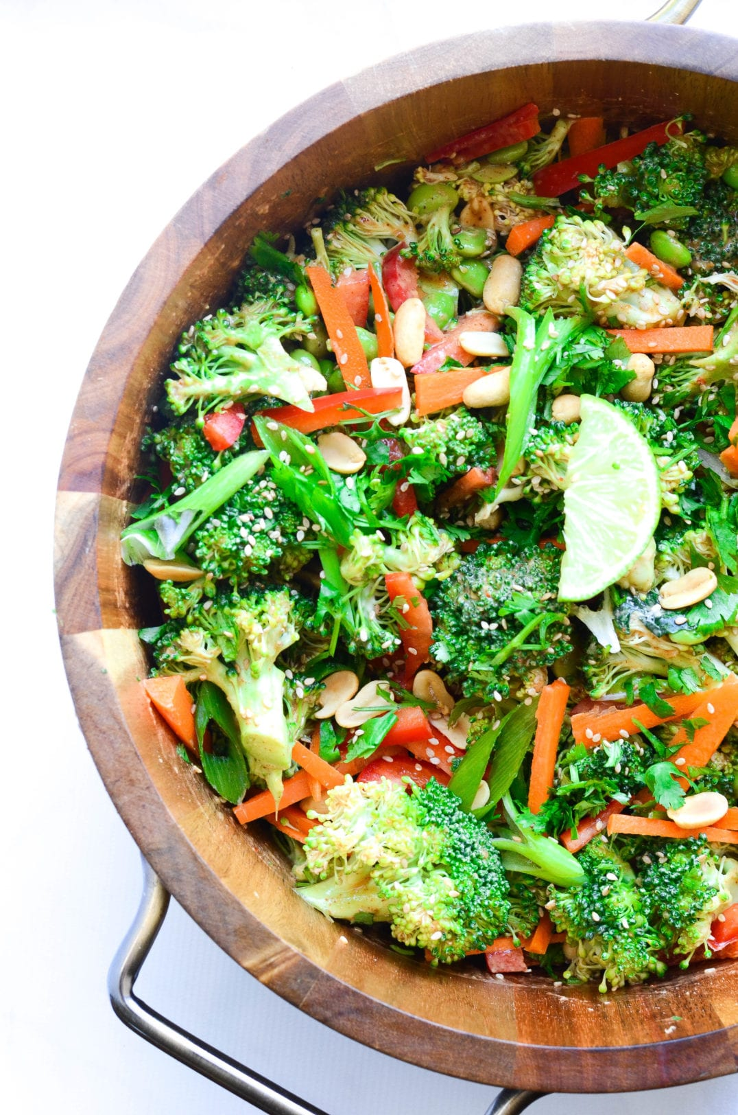 Thai Broccoli Salad With Spicy Peanut Dressing