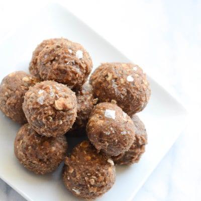 Salted Caramel Chocolate Protein Bites