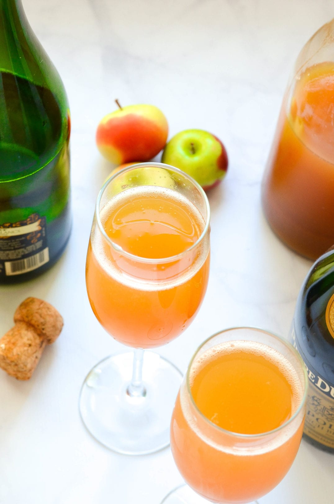 This Sparkling Apple Brandy Cocktail is the perfect soul-warming night cap for chilly fall evenings.