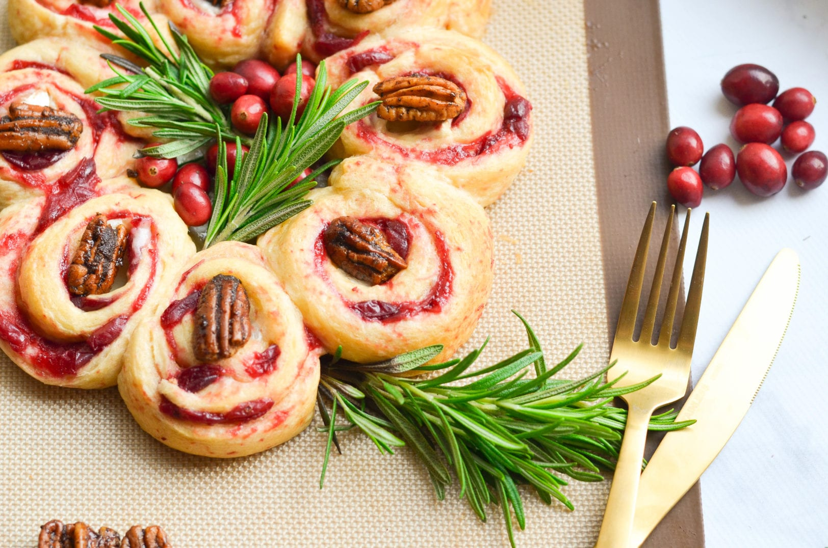 Cranberry Brie Crescent Wreath