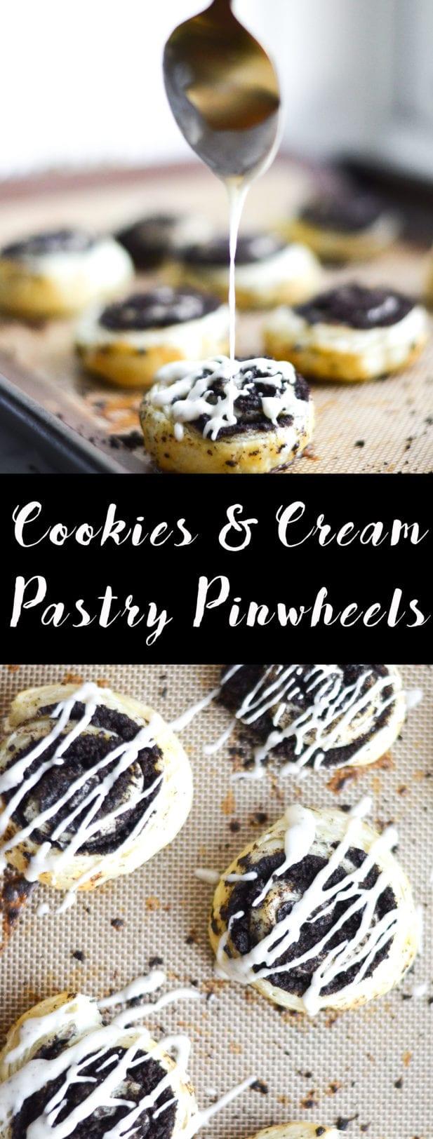 Cookies and Cream Pastry Swirls