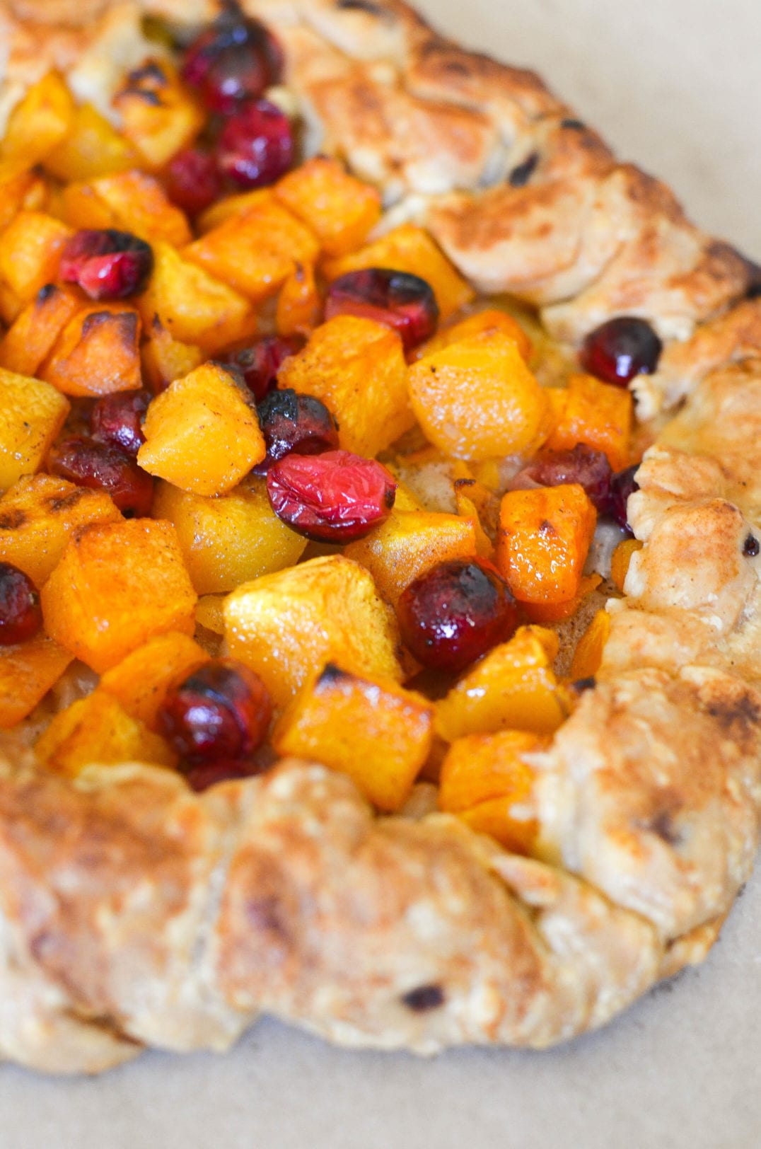 Butternut Squash and Cranberry Galette