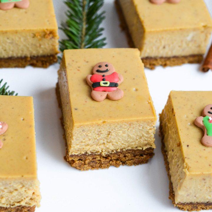 Gingerbread Cheesecake Bars