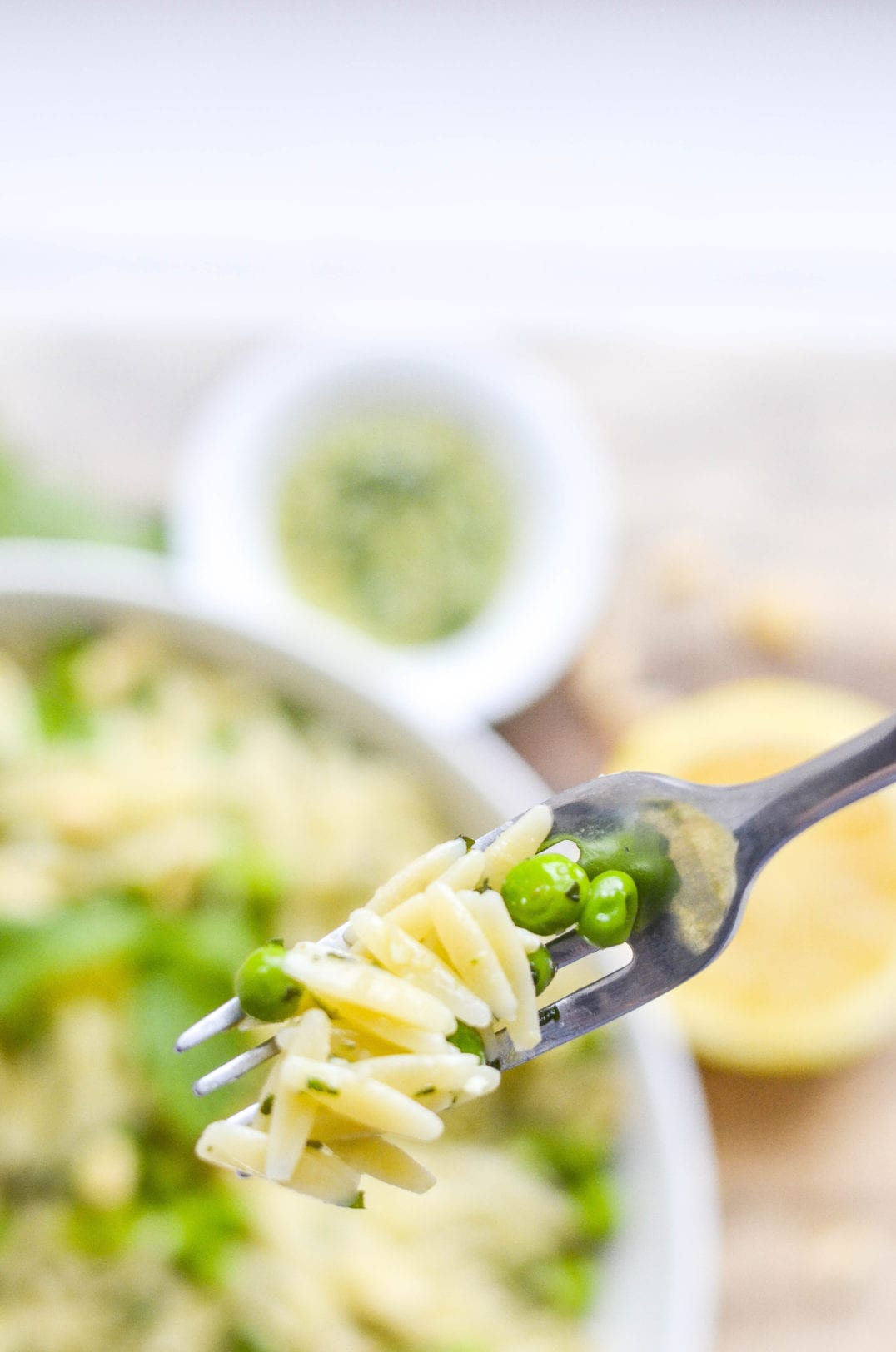 Orzo with Mint Pesto and Peas -