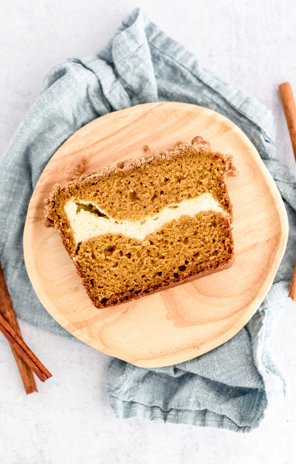 pumpkin bread sliced on plate