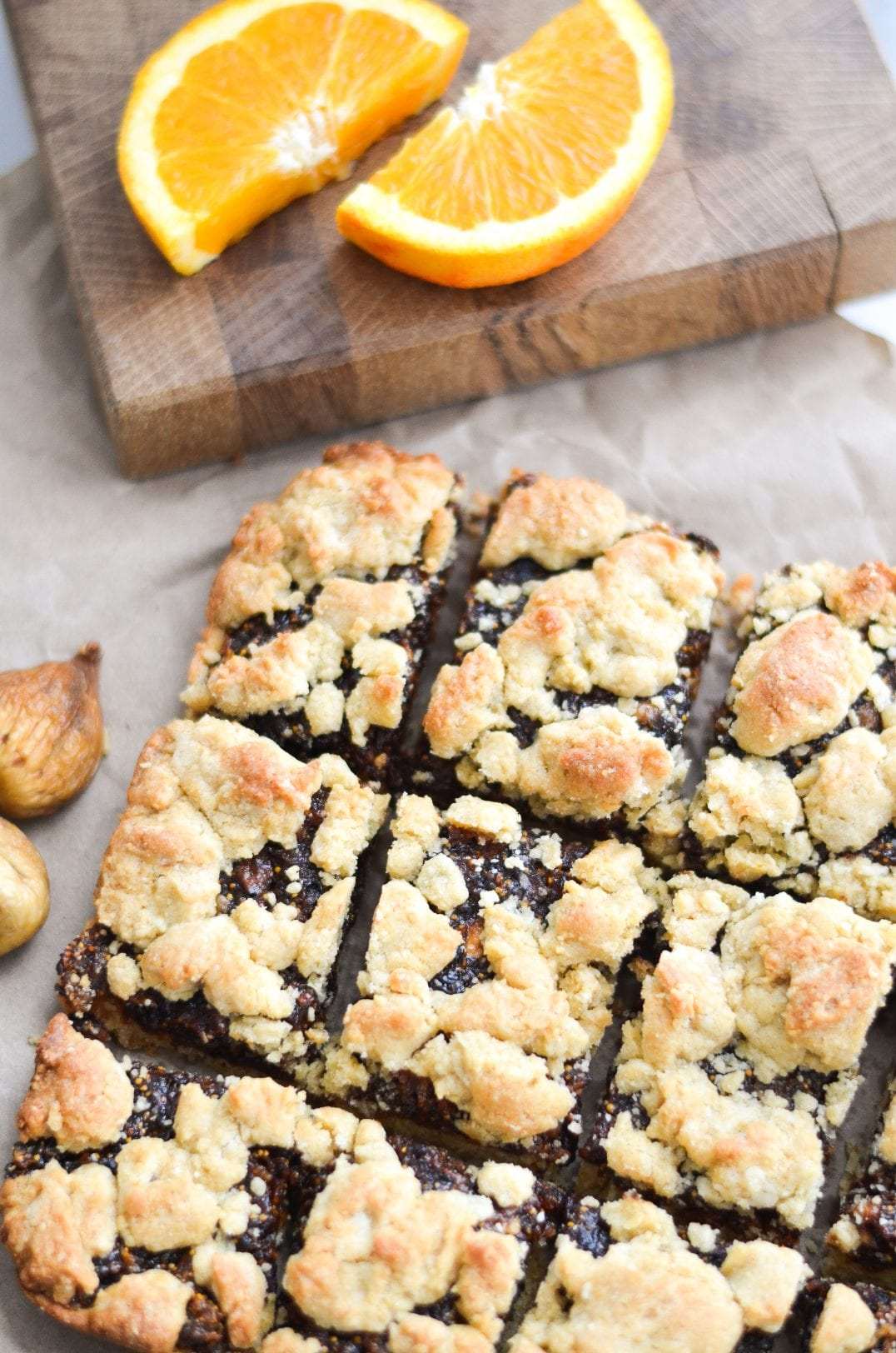 fig bars cut into squares