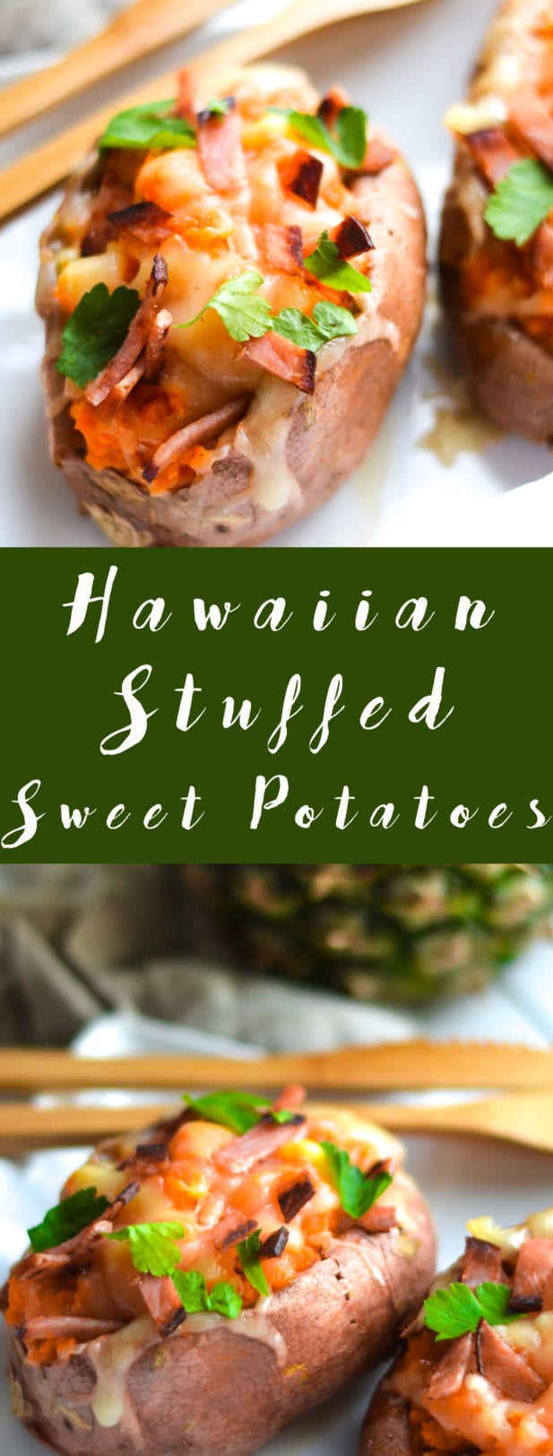 Hawaiian Stuffed Sweet Potatoes