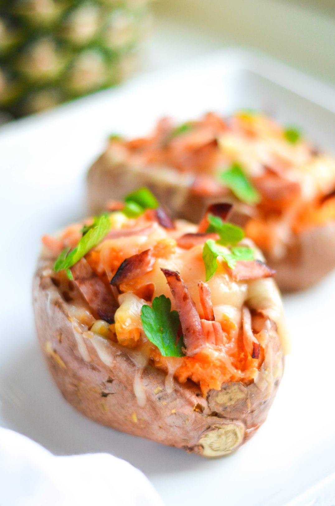 Hawaiian Stuffed Sweet Potatoes