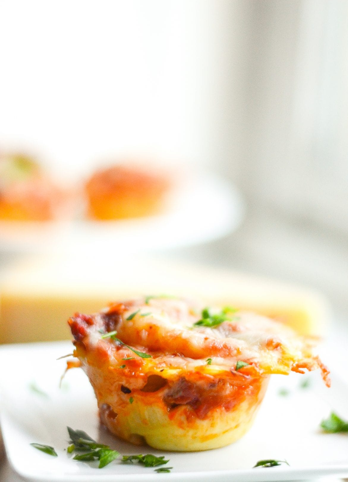 Mini Lasagna Cups with Ravioli