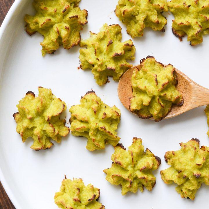 Garlic Parmesan Duchess Cauliflower