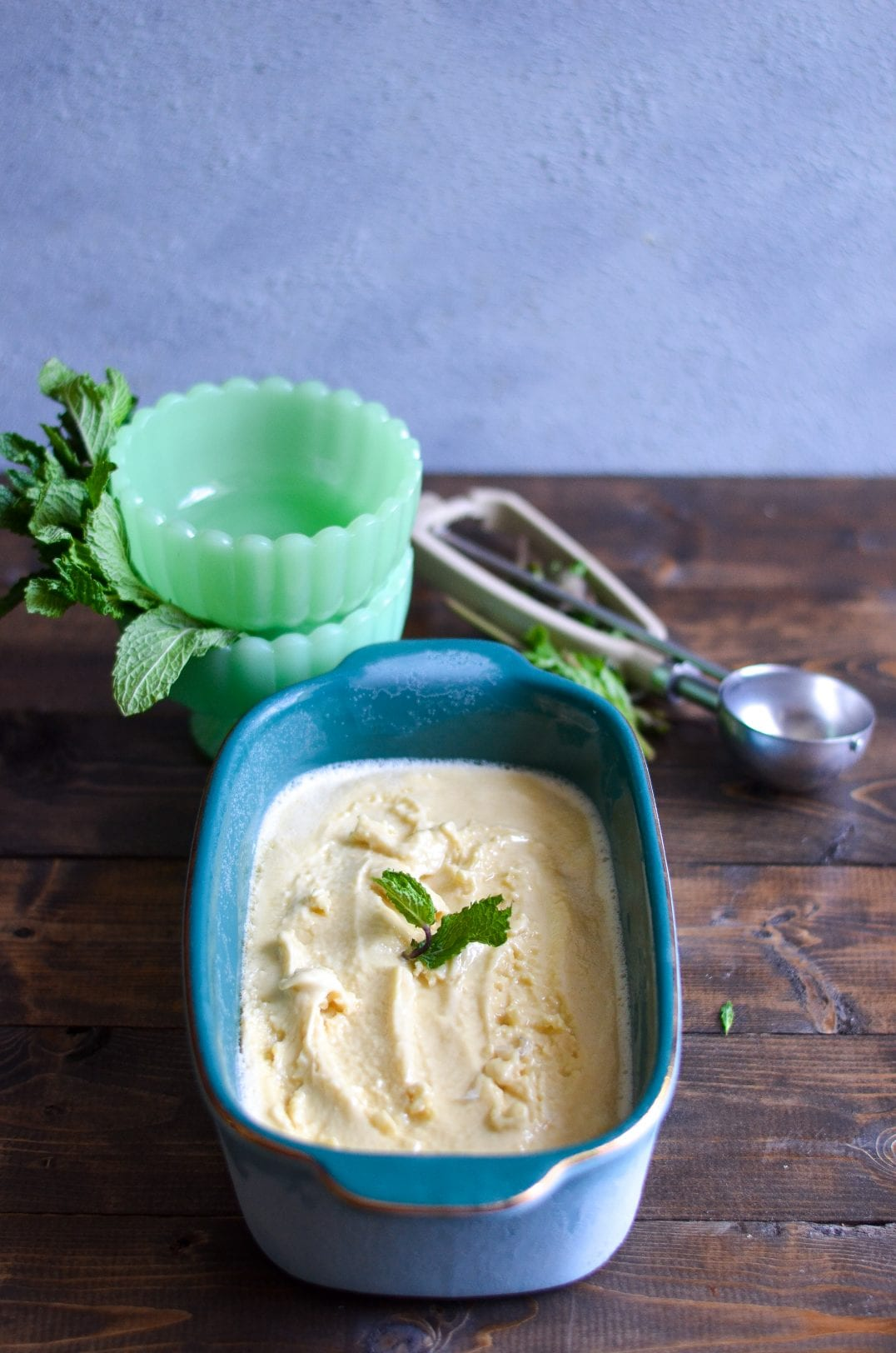 Mint Ice Cream with Bourbon Magic Shell