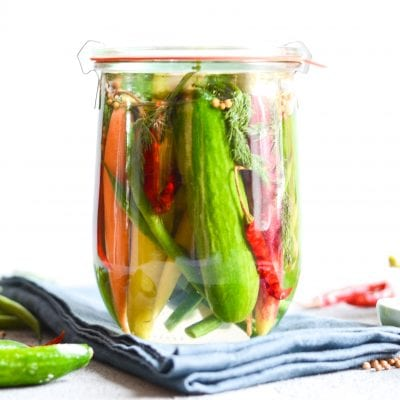 Sweet and Spicy Quick Pickled Veggies