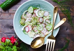Cucumber, Radish and Fennel Salad with Mandarin Vinaigrette