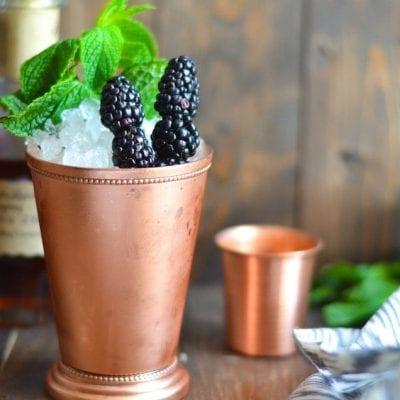 Roasted Blackberry Mint Julep