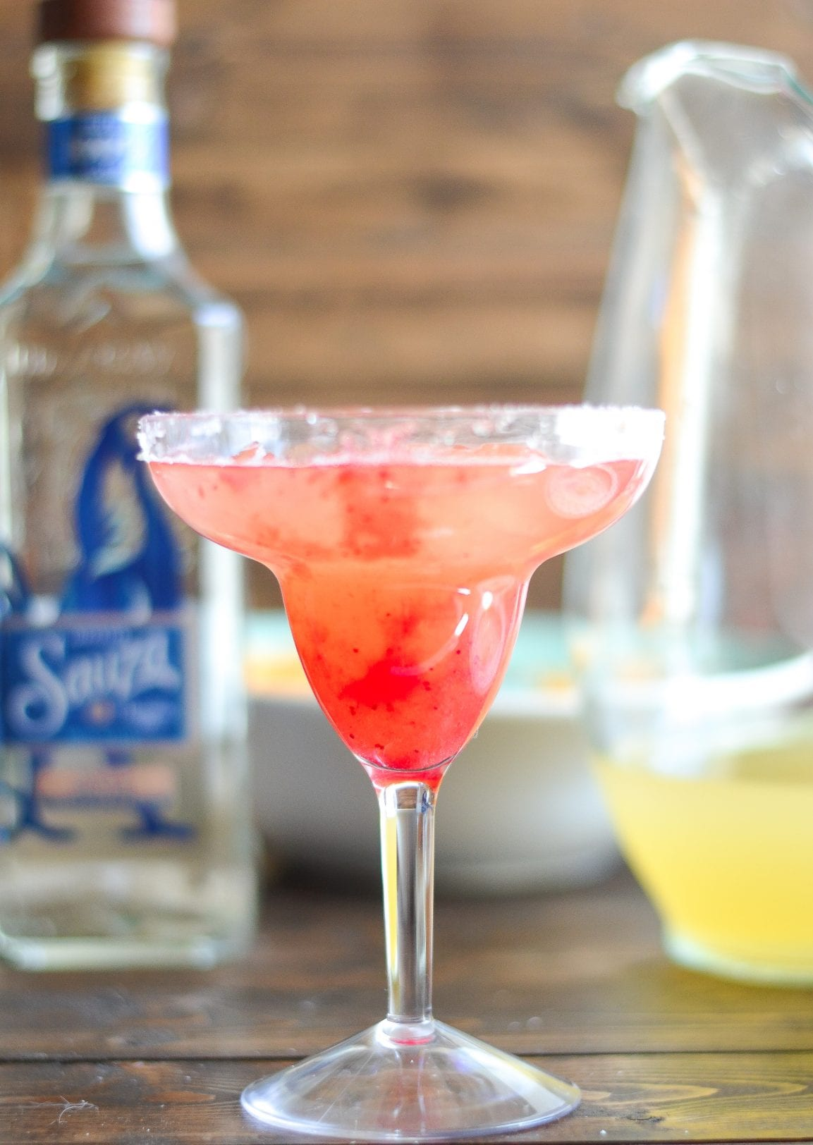Sauza® Classic Margaritas with Strawberry Rhubarb Puree