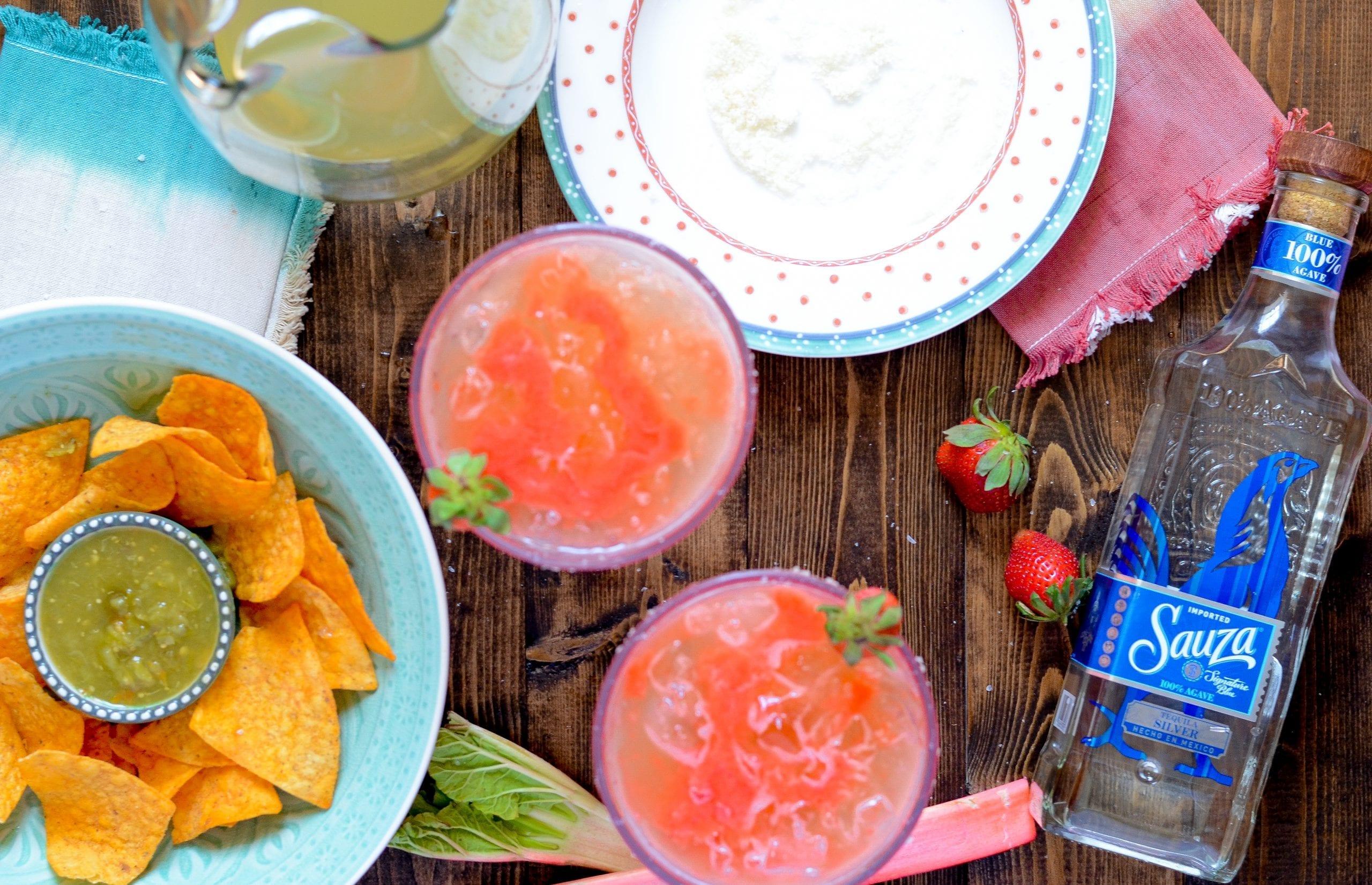 Sauza® Classic Margaritas with Strawberry Rhubarb Puree
