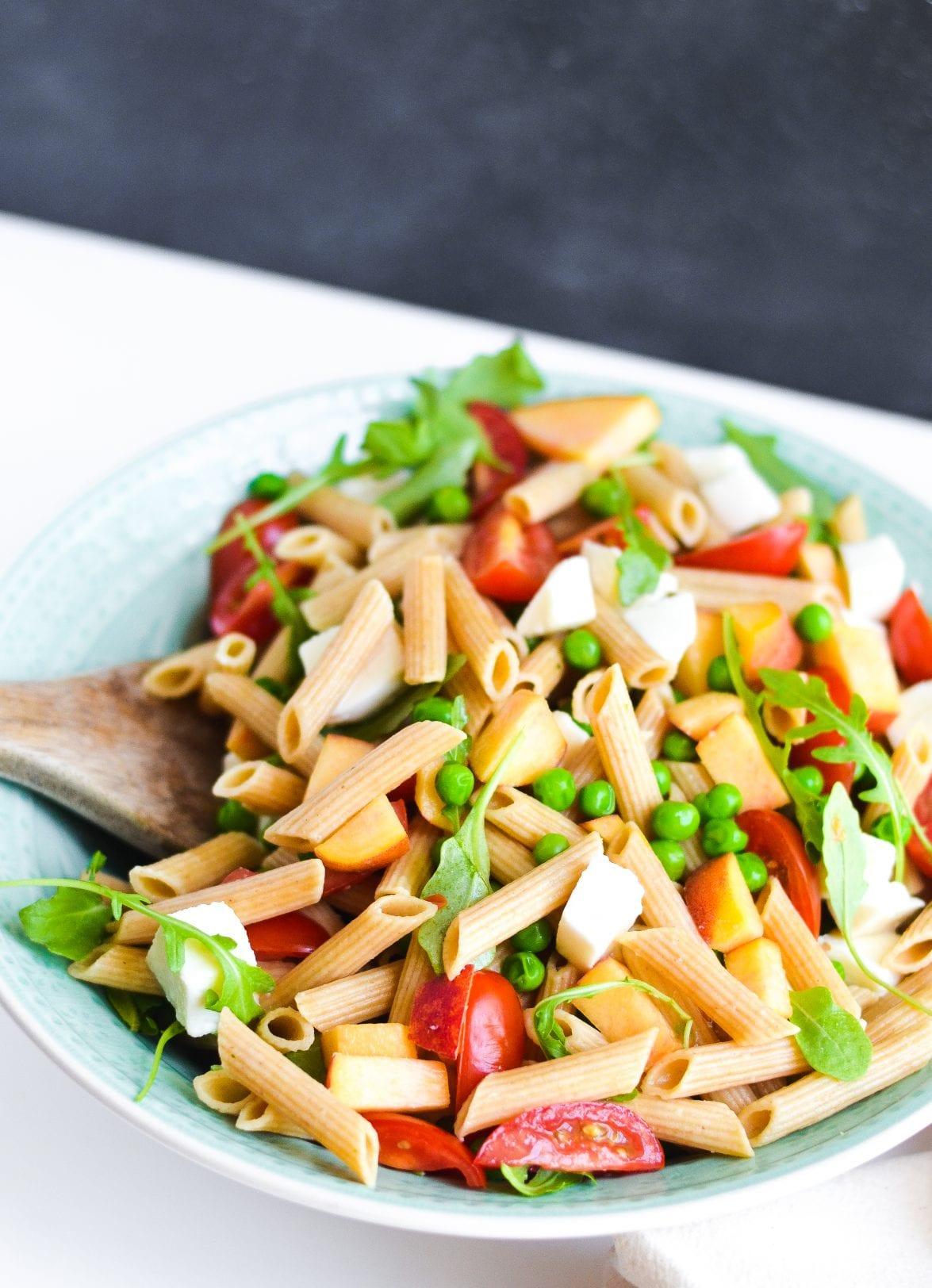 Spring Pasta Salad with Basil Vinaigrette