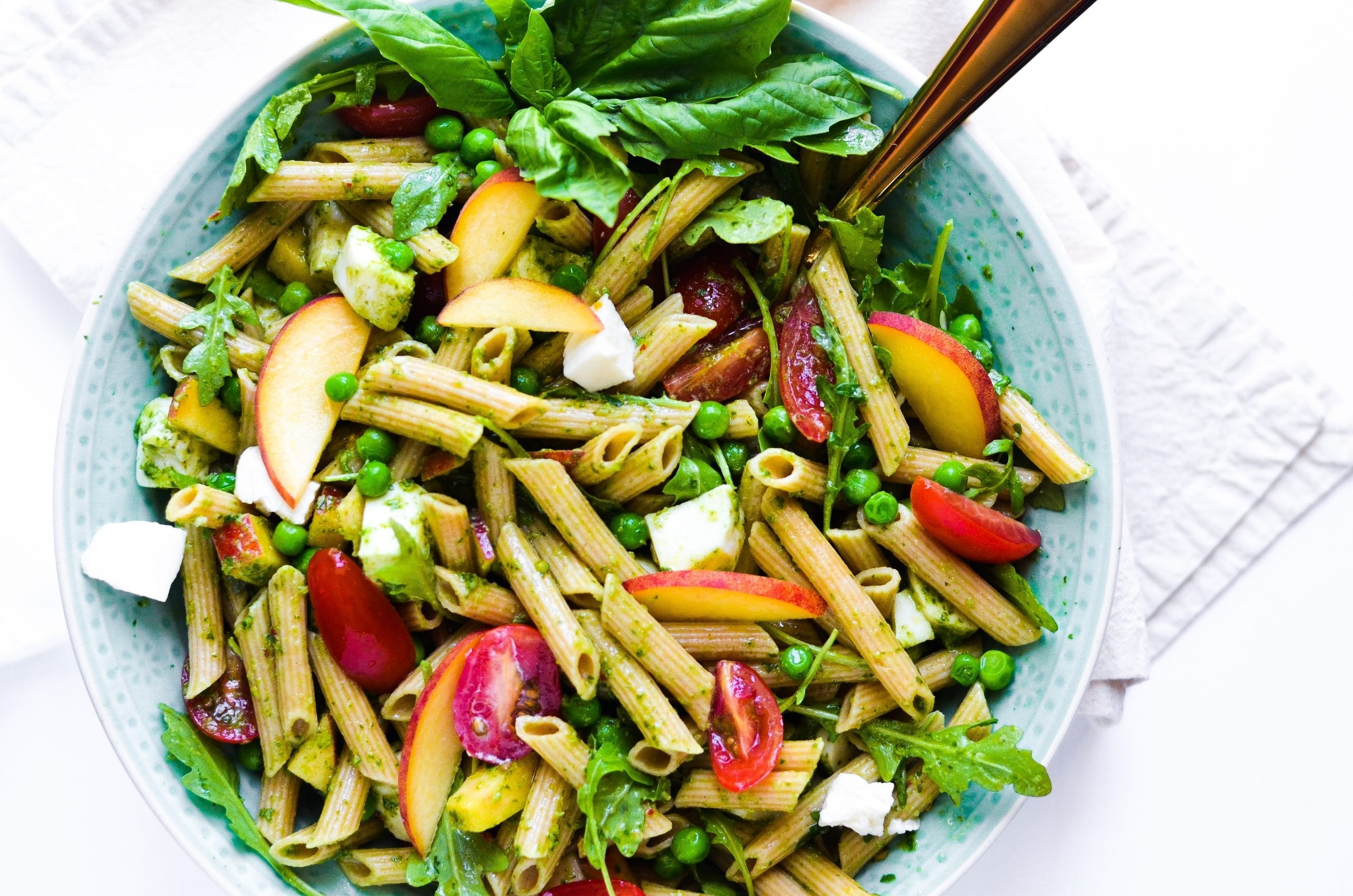 Spring Pasta Salad with Basil Vinaigrette