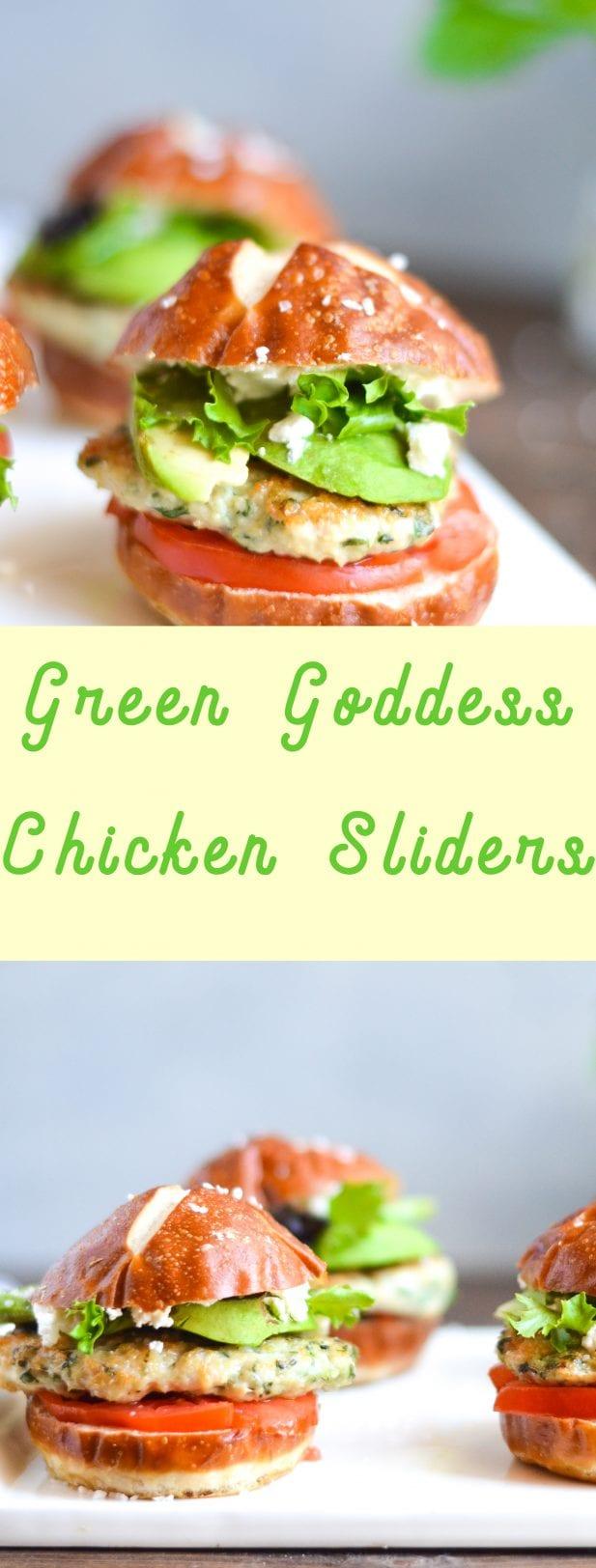 Goddess Chicken Sliders